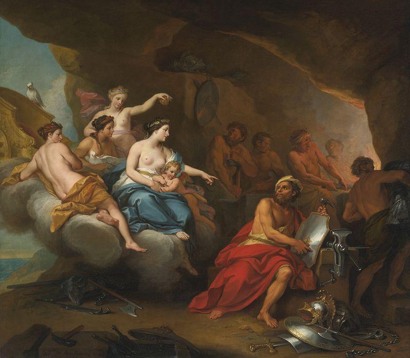 Луи де Булонь Младший. Венера в кузнице Вулкана.