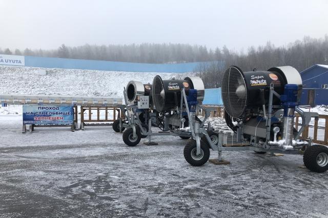 Система искусственного оснежения продлит лыжный сезон.