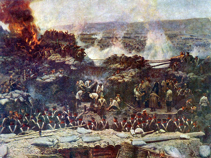 Деталь панорамы Франца Рубо Оборона Севастополя (1904)
