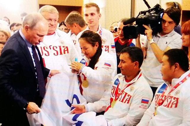 4.    Президент РФ Владимир путин поздравляет победителей Всемирных игр IWAS.