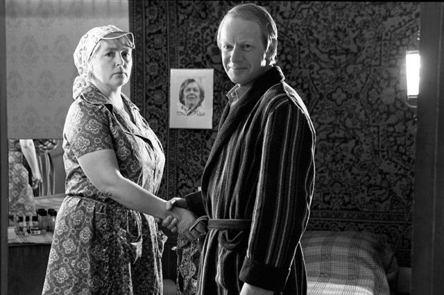 Альберт Филозов и Лидия Федосеева-Шукшина на съемках фильма «Вам и не снилось...», 1981 год