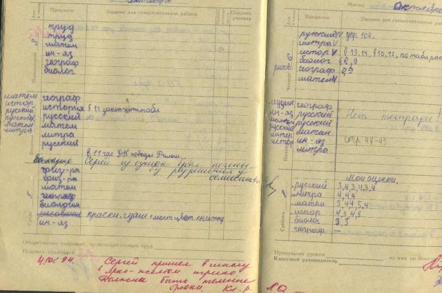 Школьный дневник.