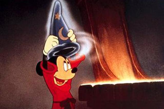 Микки Маус в мультфильме «Фантазия».