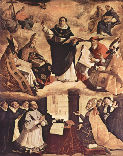 Триумф святого Фомы Аквинского. Франсиско де Сурбарана. 1631