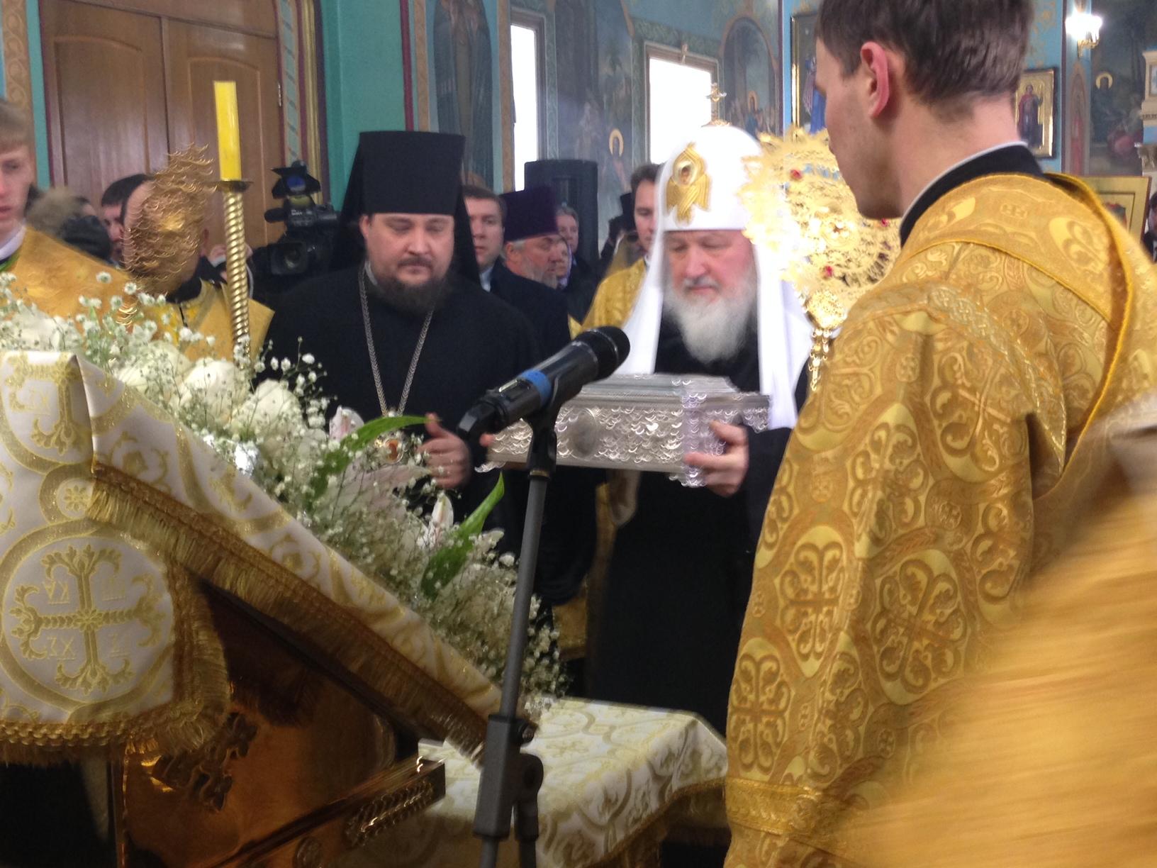 Патриарх Кирилл привез Дары Волхвов в Казанский собор Волгограда