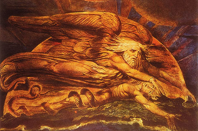 Сотворение Адама»иллюстрация Уильяма Блейка к поэме Джона Мильтона. 1795 год.