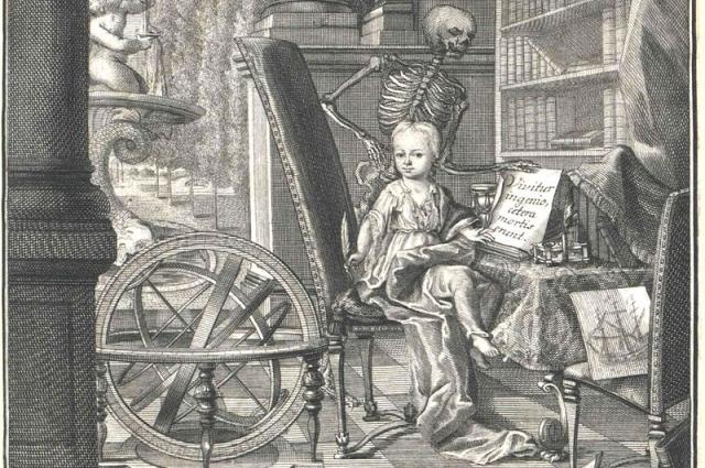 Кристиан Хейнекен. Аллегорический портрет. (Художник Christian Fritzsch), 1726