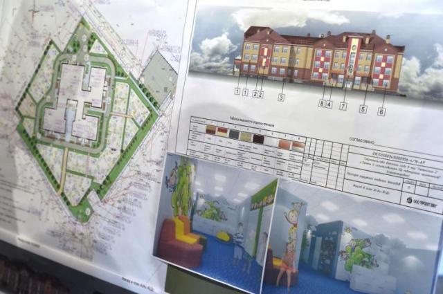 Трехэтажное дошкольное учреждение общей площадью более 10 тысяч квадратных метров рассчитано на 550 воспитанников.