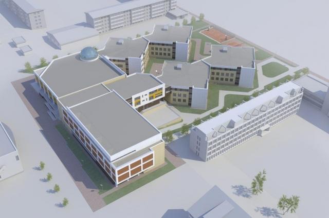 Так будет выглядеть новая школа.
