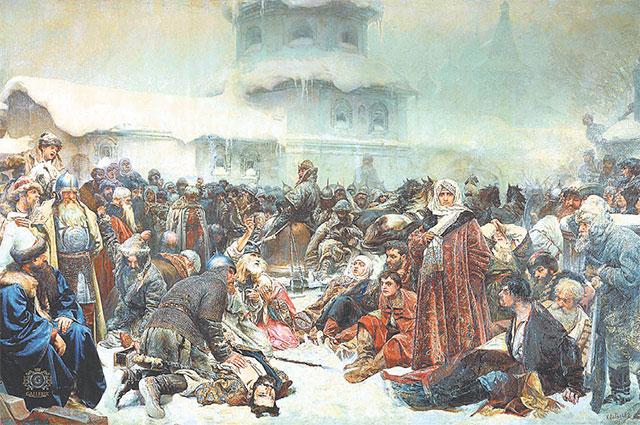 «Марфа Посадница. Уничтожение Новгородского веча». Художник Клавдий Лебедев, 1889г.
