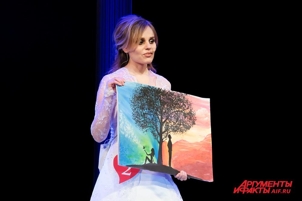 Наталья Чувашева для своего мужа Дмитрия нарисовала картины