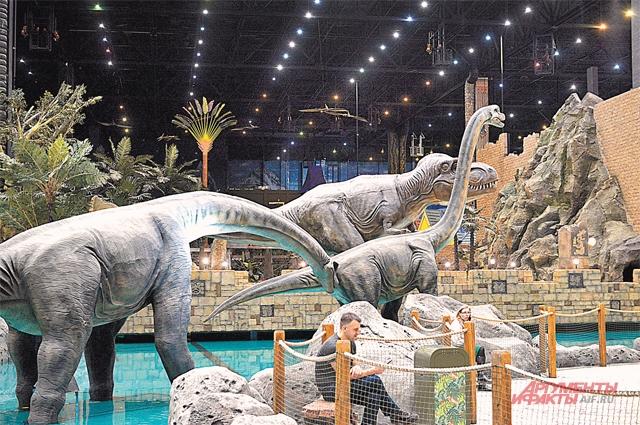 Мир динозавров впечатлит детей любого возраста.