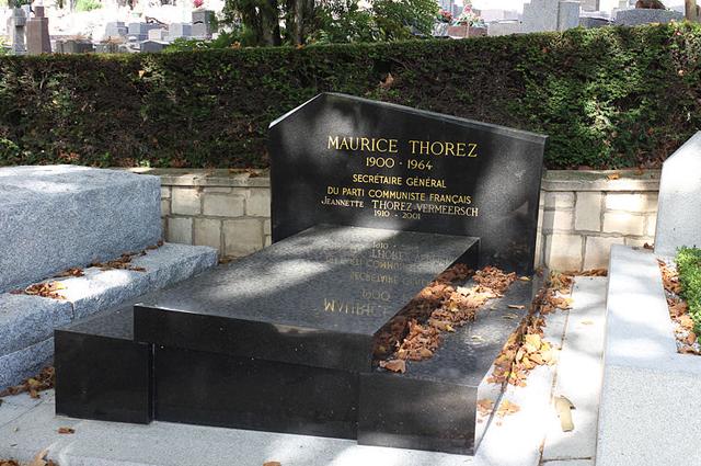 Могила Тореза в Париже