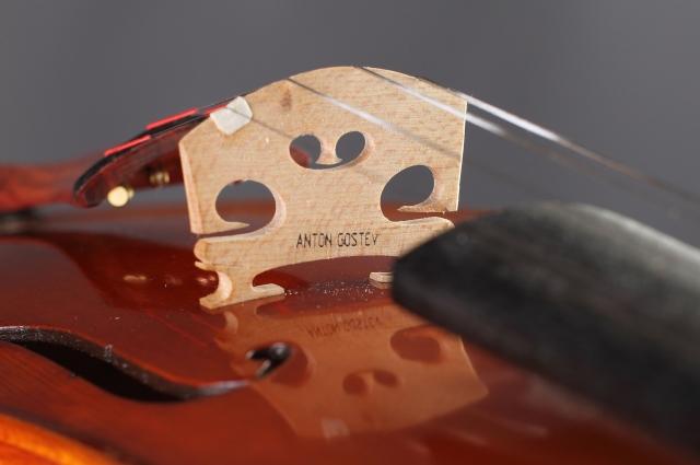 Работа над очередной скрипкой.