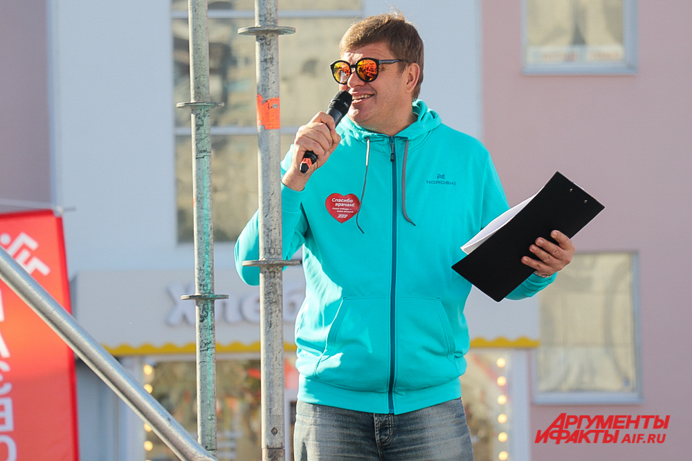 Дмитрий Губерниев вновь стал ведущим пермского марафона.