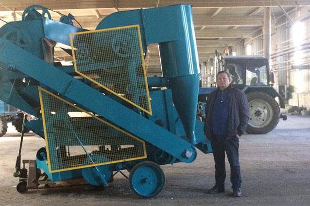 Рауф Ямаев с новым сельхозоборудованием