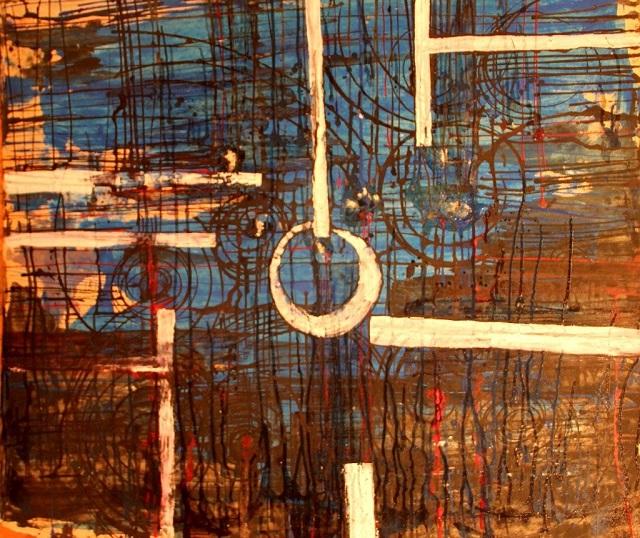 Среди работ Анастасии немало абстрактных полотен.