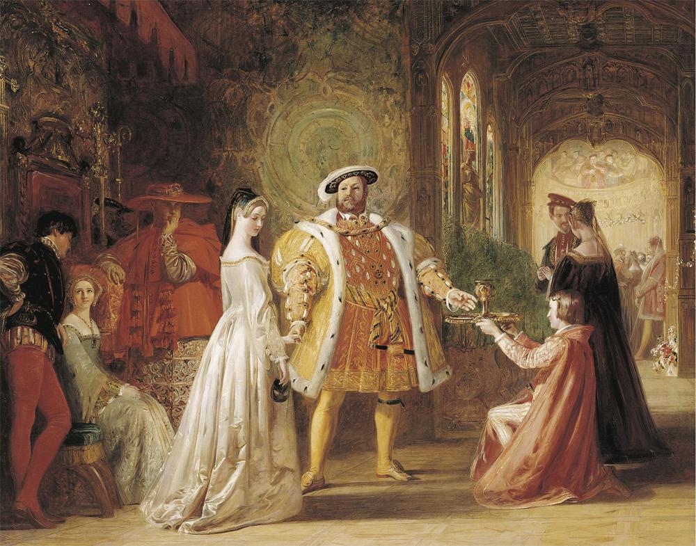 Первая встреча Генриха VIII и Анны Болейн. Дэниел Маклайз, 1835 год.