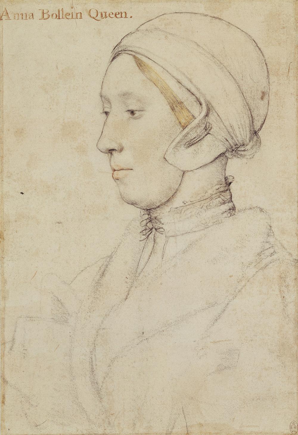 Портрет Анны Болейн, приписываемый ГансуГольбейну (Младшиему), первая половина XVI века.
