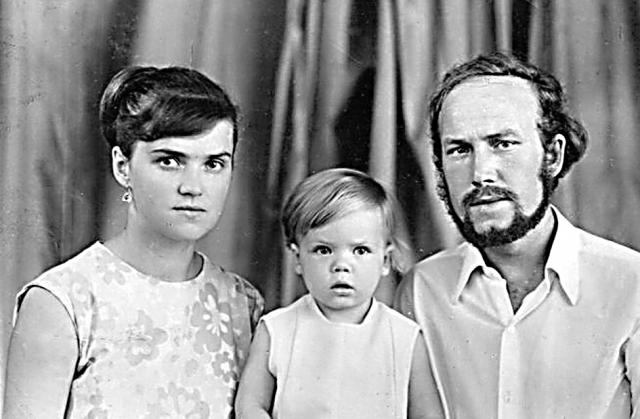 Татьяна с мужем и дочкой, 1972 г.