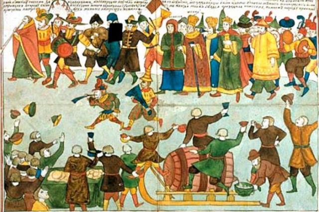 При Петре I Петербурга на 1 апреля превращался в большой веселый балаган.