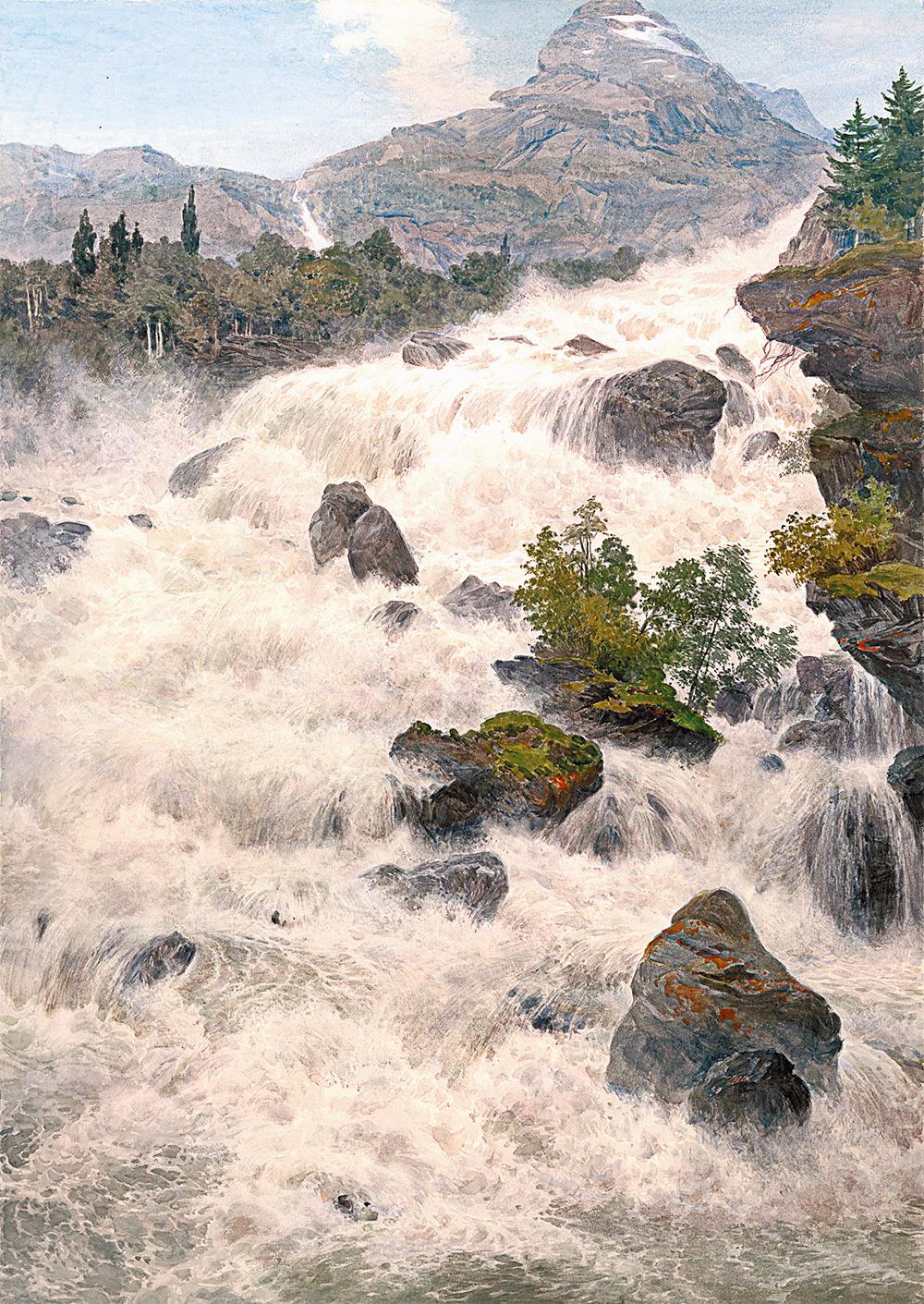 «Водопад в Норвегии», 2007 г. Сергей Андрияка