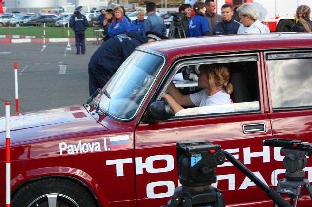 Ирина Павлова за рулем