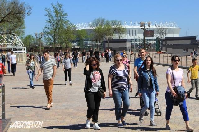 Стадион «Ростов Арена» в парке «Левобережный» виден со всех точек!