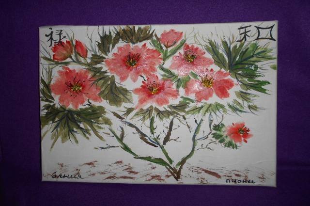 Татьяна часто рисует цветы, особенно пионы. В Китае долгое время ими могли любоваться только императоры.