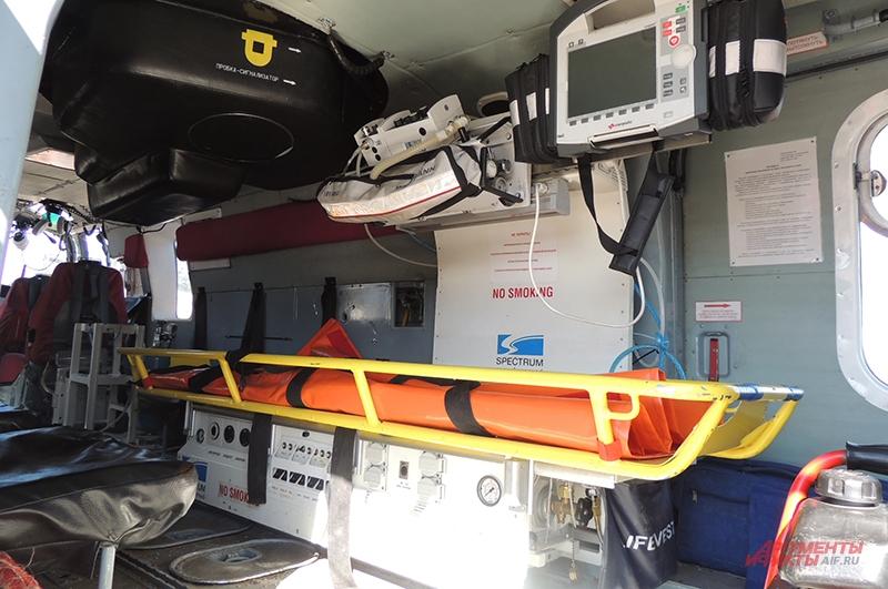 Спасательные вертолёты укомплектованы по принципу скорой помощи