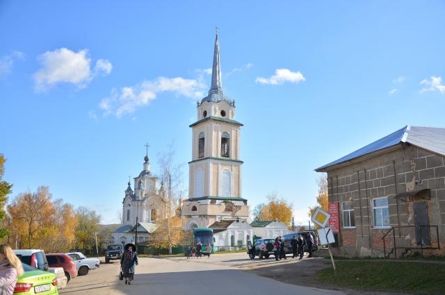 Центральная площадь в Крапивне.