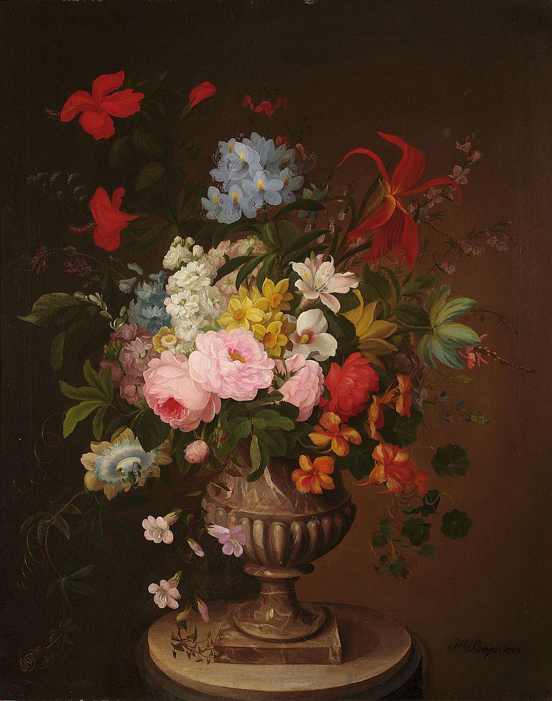 Хенрика Бейер. Цветы в вазе.