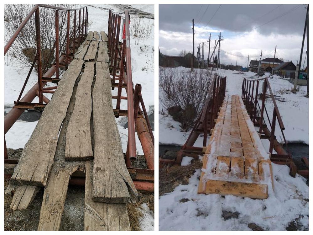 Судя по фото, даже после ремонта мост не выглядит надежным.