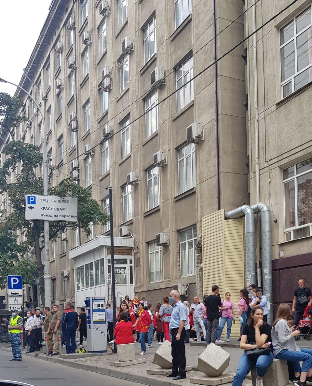 эвакуация галереи