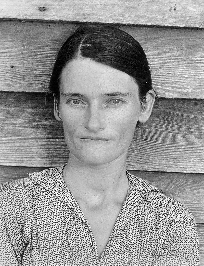 Уокер Эванс. Элли Мэй Берроуз, символ Великой депрессии.
