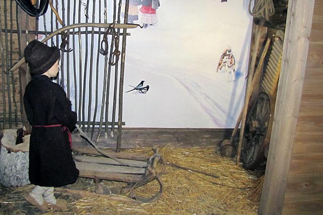 Экспозиция «Зима» в Музее народной культуры.