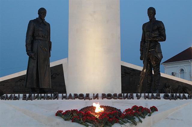 Памятник в честь 100-летия окончания Гражданской войны. Севастополь.