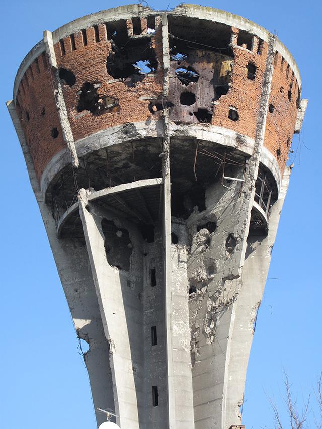 Водонапорная башня в Вуковаре символ начала войны