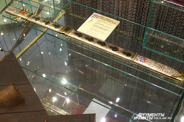 Уникальный Меч Победы, подаренный музею златоустовскими кузнецами в честь 70-летия Победы в Великой Отечественной войне