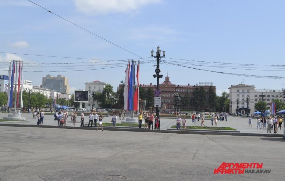 Небольшое движение, а точнее - неподвижность, в районе площади Ленина наблюдалась.