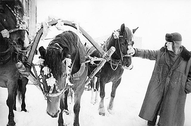 Андрей Вознесенский любил проехать по деревне Рясне на тройке.