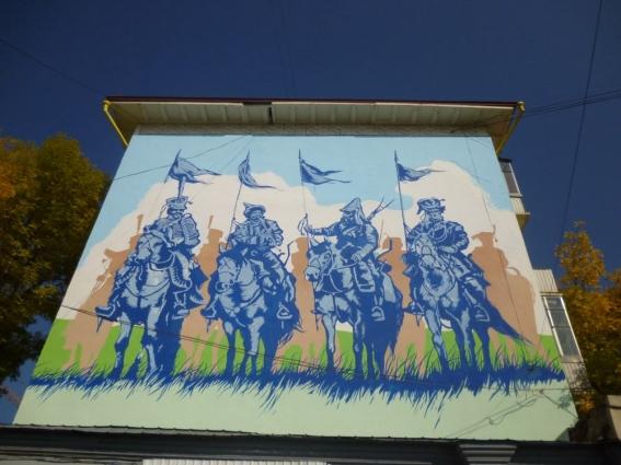 Стрит-арт по улице Ленина на тему Отечественной войны 1812 года