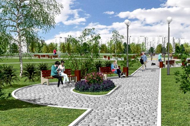 Так будет выглядеть парк по улице архиепископа Сильвестра.
