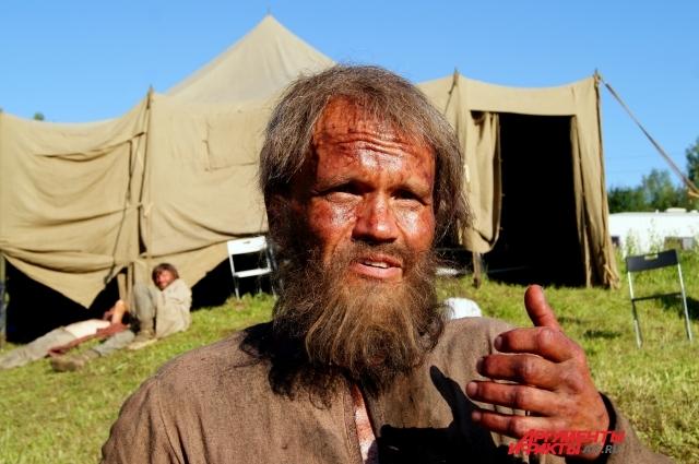 Житель Чусового специально отращивал бороду для съёмок.