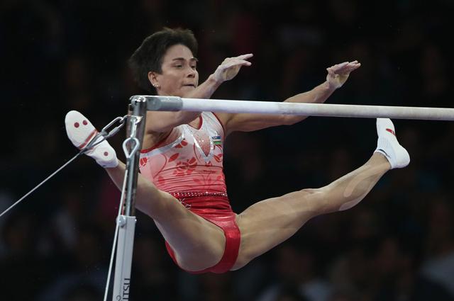 Оксана Чусовитина (Узбекистан) на Чемпионате мира по спортивной гимнастике 2019 г.