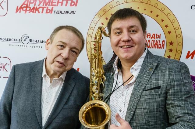 Актер Александр Семчев и музыкант Родион Чехов.
