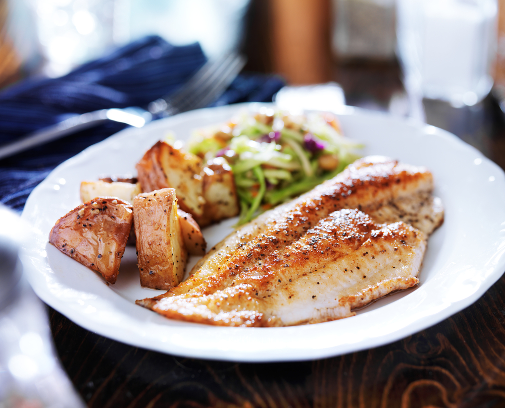Жареная белая рыба