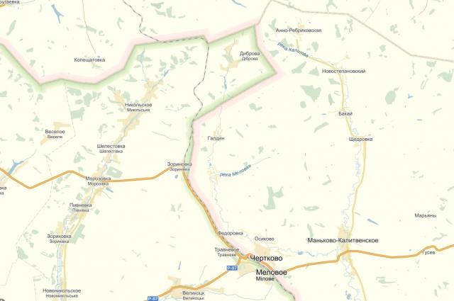 Участок железнодорожного пути Ростов Москва, проходящий по украинской территории
