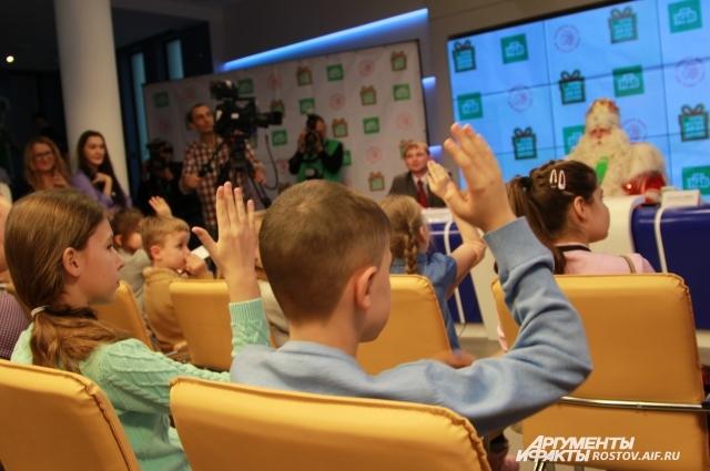 Это была необычная пресс-конференция, где наравне со взрослыми вопросы задавали дети!