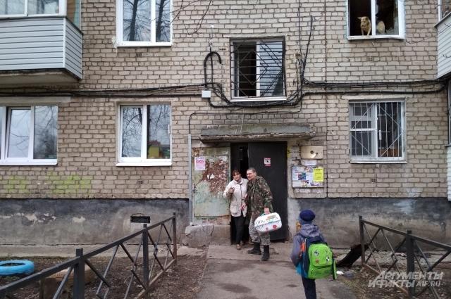 Из сгоревшей квартиры удалось вывезти одну кошку. Слепой пёс поедет на станцию скорой помощи, ещё четыре — в частный приют. Другие, оставшиеся в живых — в муниципальный.